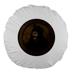 Count Vlad Dracula Large 18  Premium Round Cushions by Valentinaart