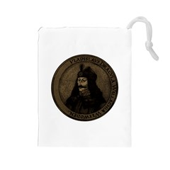 Count Vlad Dracula Drawstring Pouches (large)  by Valentinaart
