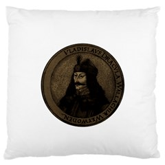 Count Vlad Dracula Large Flano Cushion Case (two Sides) by Valentinaart