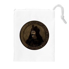 Count Vlad Dracula Drawstring Pouches (extra Large) by Valentinaart
