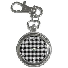 Plaid Pattern Key Chain Watches by ValentinaDesign