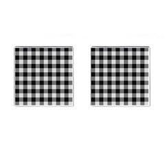 Plaid Pattern Cufflinks (square) by ValentinaDesign