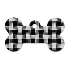 Plaid Pattern Dog Tag Bone (two Sides) by ValentinaDesign