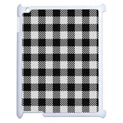 Plaid Pattern Apple Ipad 2 Case (white) by ValentinaDesign