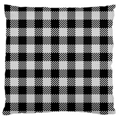 Plaid Pattern Large Flano Cushion Case (two Sides) by ValentinaDesign