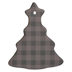 Plaid Pattern Christmas Tree Ornament (two Sides) by ValentinaDesign
