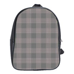 Plaid Pattern School Bags (xl)  by ValentinaDesign