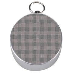 Plaid Pattern Silver Compasses by ValentinaDesign