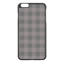 Plaid Pattern Apple Iphone 6 Plus/6s Plus Black Enamel Case by ValentinaDesign