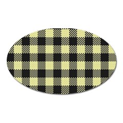 Plaid Pattern Oval Magnet by ValentinaDesign