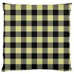 Plaid Pattern Large Cushion Case (two Sides) by ValentinaDesign