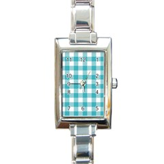 Plaid Pattern Rectangle Italian Charm Watch