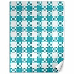 Plaid Pattern Canvas 12  X 16   by ValentinaDesign