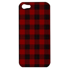 Plaid Pattern Apple Iphone 5 Hardshell Case by ValentinaDesign
