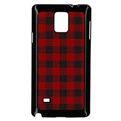 Plaid Pattern Samsung Galaxy Note 4 Case (black) by ValentinaDesign