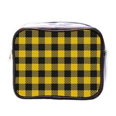Plaid Pattern Mini Toiletries Bags by ValentinaDesign