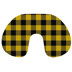 Plaid Pattern Travel Neck Pillows by ValentinaDesign