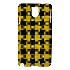 Plaid Pattern Samsung Galaxy Note 3 N9005 Hardshell Case by ValentinaDesign