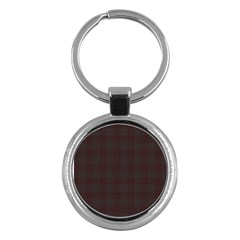 Plaid Pattern Key Chains (round)  by ValentinaDesign