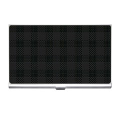 Plaid Pattern Business Card Holders by ValentinaDesign