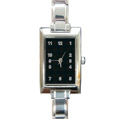 Plaid Pattern Rectangle Italian Charm Watch by ValentinaDesign