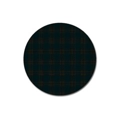 Plaid Pattern Magnet 3  (round) by ValentinaDesign