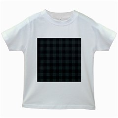 Plaid Pattern Kids White T Shirts by ValentinaDesign