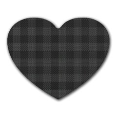 Plaid Pattern Heart Mousepads by ValentinaDesign