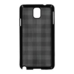 Plaid Pattern Samsung Galaxy Note 3 Neo Hardshell Case (black) by ValentinaDesign