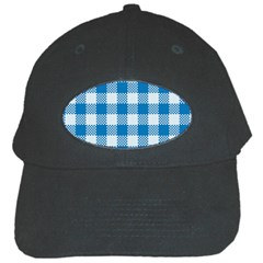 Plaid Pattern Black Cap by ValentinaDesign