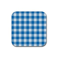 Plaid Pattern Rubber Square Coaster (4 Pack)  by ValentinaDesign