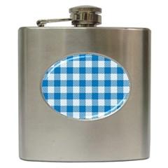 Plaid Pattern Hip Flask (6 Oz) by ValentinaDesign