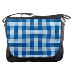 Plaid Pattern Messenger Bags by ValentinaDesign
