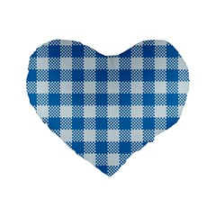 Plaid Pattern Standard 16  Premium Flano Heart Shape Cushions by ValentinaDesign