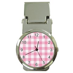 Plaid Pattern Money Clip Watches by ValentinaDesign