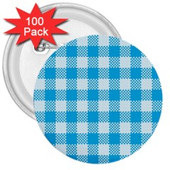Plaid Pattern 3  Buttons (100 Pack)  by ValentinaDesign