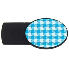Plaid Pattern Usb Flash Drive Oval (4 Gb) by ValentinaDesign