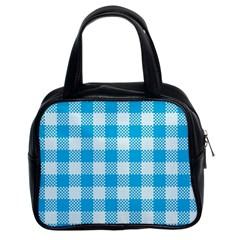 Plaid Pattern Classic Handbags (2 Sides) by ValentinaDesign