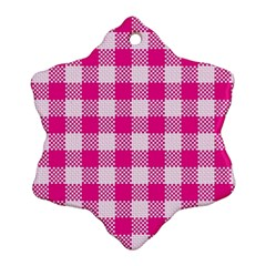 Plaid Pattern Snowflake Ornament (two Sides) by ValentinaDesign