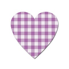 Plaid Pattern Heart Magnet by ValentinaDesign