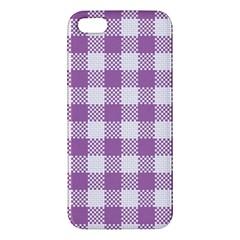 Plaid Pattern Iphone 5s/ Se Premium Hardshell Case by ValentinaDesign