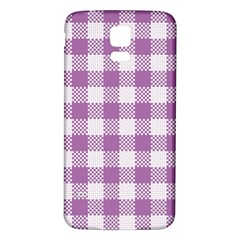 Plaid Pattern Samsung Galaxy S5 Back Case (white) by ValentinaDesign