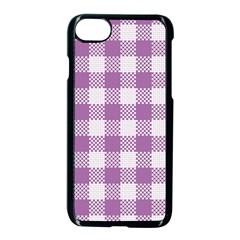 Plaid Pattern Apple Iphone 7 Seamless Case (black)
