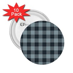 Plaid Pattern 2 25  Buttons (10 Pack)  by ValentinaDesign