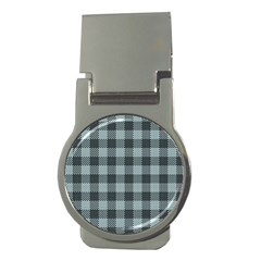 Plaid Pattern Money Clips (round)  by ValentinaDesign