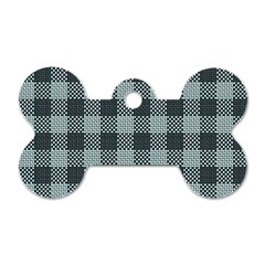 Plaid Pattern Dog Tag Bone (one Side) by ValentinaDesign