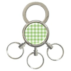 Plaid Pattern 3 Ring Key Chains by ValentinaDesign