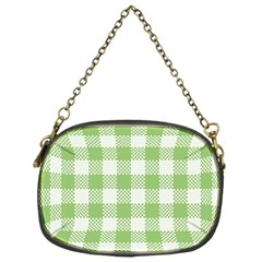 Plaid Pattern Chain Purses (one Side)  by ValentinaDesign