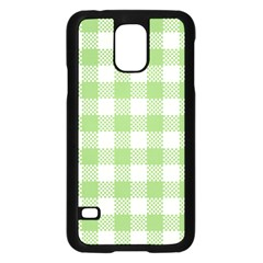 Plaid Pattern Samsung Galaxy S5 Case (black) by ValentinaDesign