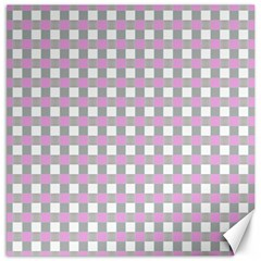 Plaid Pattern Canvas 12  X 12   by ValentinaDesign
